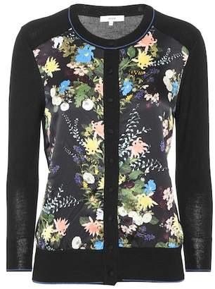 Erdem Wool and silk-blend floral cardigan
