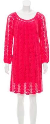 Trina Turk Open Knit Mini Dress