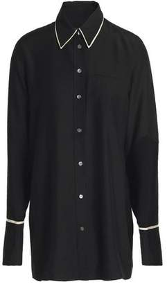 J Brand Blake Oversized Satin Shirt