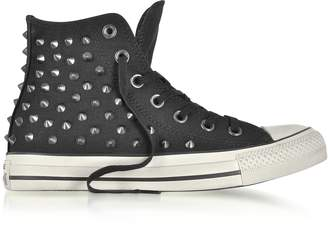 Converse Limited Edition Chuck Taylor All Star High Black Studded Canvas Sneakers