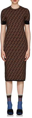 Fendi Women's Zucca Knit Body-Con Midi-Dress