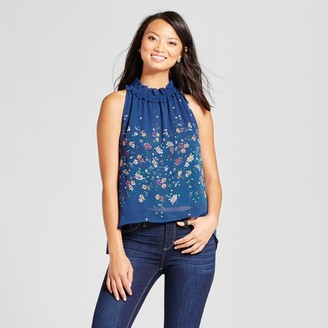 ISANI for Target Women's Floral Printed Tank with Gathered Neck $37.99 thestylecure.com