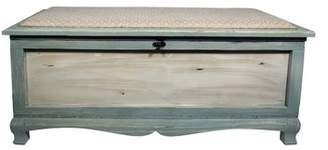 Beachcrest Home Atka Wood Storage Bench