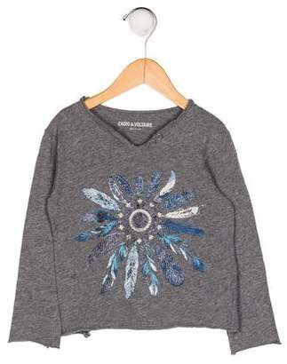 Zadig & Voltaire Girls' Printed Long Sleeve Top