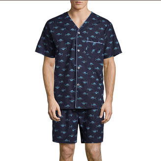 STAFFORD Stafford V-Neck Short Sleeve/ Short Leg Pajama Set - Big and Tall