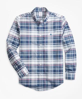 Brooks Brothers Non-Iron Madison Fit Bold Plaid Sport Shirt