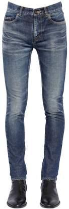Saint Laurent 15cm Skinny Destroyed Denim Jeans
