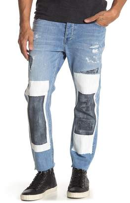 Neuw Lou Distressed Crop Straight Leg Jeans