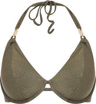 Glam Rock Freya Swim Underwired Bandless Halter Bikini Top