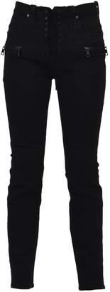 Taverniti So Ben Unravel Project Black Lace Detail Skinny Jean