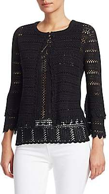 Saks Fifth Avenue Women's COLLECTION Crochet Cotton Knit Cardigan