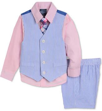 Nautica (ノーティカ) - Nautica Baby Boys 4-Pc. Shirt, Vest, Shorts & Necktie Set