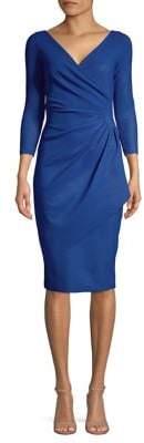 Chiara Boni Three-Quarter Sleeve Sheath Dress