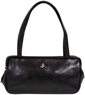 agnès b. Black Leather Handbag