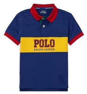 Ralph Lauren Boys' Contrast Performance Polo - Little Kid