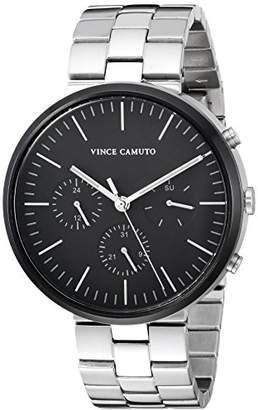 Vince Camuto Men's VC/1098BKSV Multi-Function Silver-Tone Bracelet Watch