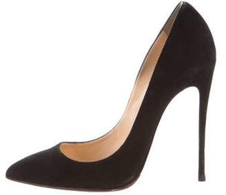 Christian Louboutin Suede Pigalle Pumps