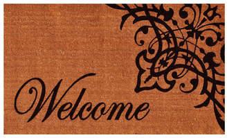 Red Barrel Studio Skelley Scroll Welcome Doormat