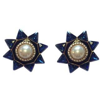 Valentino Blue Metal Earrings