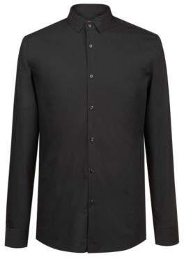 HUGO Boss Extra-slim-fit cotton shirt easy-iron finishing 15.5 Black