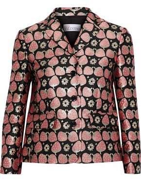 RED Valentino Metallic Brocade Blazer