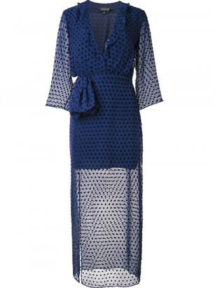 Saloni sheer polka dot dress $575 thestylecure.com