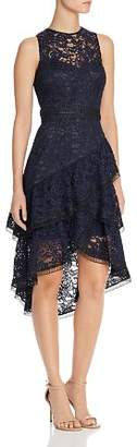 Eliza J Sleeveless Lace Illusion Dress