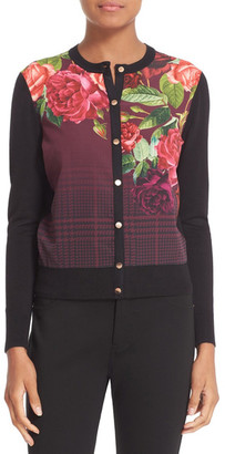 Ted Baker London Teeah Juxtapose Rose Cardigan $195 thestylecure.com