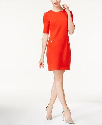 Calvin Klein Zip-Pocket Sheath Dress $129.50 thestylecure.com