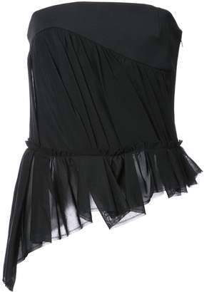 Saint Laurent Voile Bustier Top