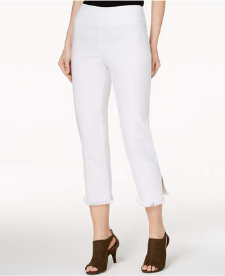 Style&Co. Style & Co Frayed Comfort-Waist Capri Pants, Created for Macy's