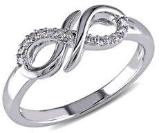 HBC CONCERTO Diamond and Sterling Silver Infinity Knot Ring