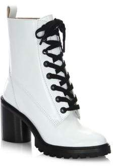 Marc Jacobs Ryder Lace-Up Leather Booties