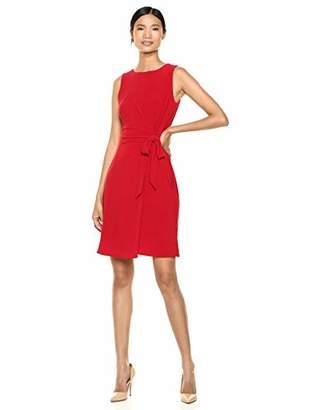 Chaps Women's Tie Front Matte Jersey Dress