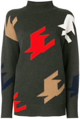 Victoria Beckham intarsia-knit jumper