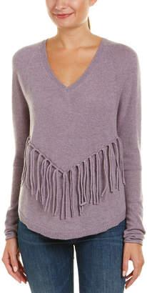 Velvet by Graham & Spencer Cashmere Fringe Sweater