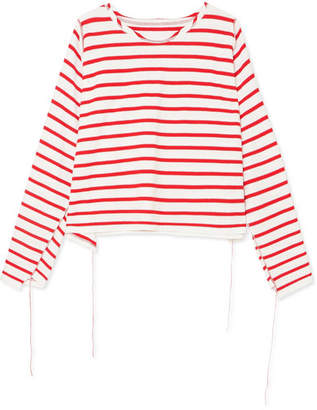 MM6 MAISON MARGIELA Striped Cotton Top - Red