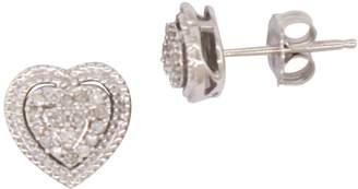 Fine Jewellery Sterling Silver 0.10 CT. T.W. Diamond Stud Earrings