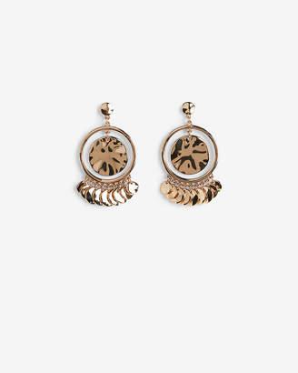 Express Shiny Floating Circle Drop Earrings
