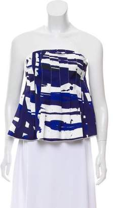 C/Meo Collective Strapless Printed Top w/ Tags