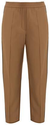 Brunello Cucinelli Slim-fit contrast-stripe trousers