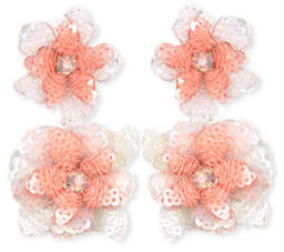Suzanna Dai Oaxaca Sequin Flower Drop Earrings
