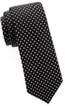 Saks Fifth Avenue Polka Dot Silk Tie