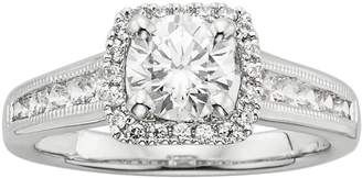 Kohl's Round-Cut IGL Certified Diamond Frame Engagement Ring in 14k White Gold (1 1/2 ct. T.W.)