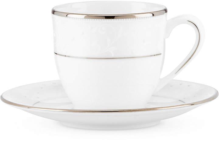 Lenox Opal Innocence Espresso Cup and Saucer Set