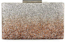 Neiman Marcus Ombre Glitter Evening Box Clutch Bag