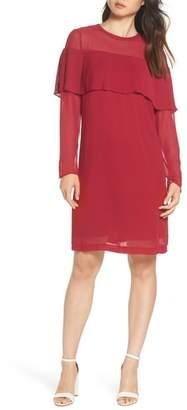 Sam Edelman Pleated Overlay Shift Dress