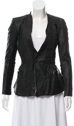 Rick Owens Fitted Collarless Jacket