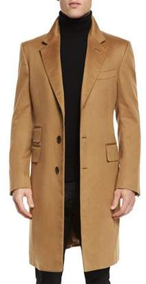 TOM FORD Classic Tailored Single-Breasted Top Coat, Camel $5,790 thestylecure.com