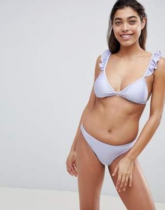 65825d0dc1b UNIQUE21 Unique 21 Bikini Set With Ruffle Straps